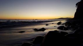 Dream of a sunset. Perfect sunset at the beach.  Santa Barbara, California, USA Royalty Free Stock Image