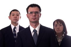 The dream team 2. American and asian business people isolated Stock Photography
