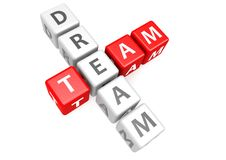 Dream team in cube Stock Image