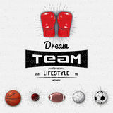 Dream Team insignia  and labels for any use Royalty Free Stock Photos