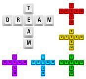 Dream team key Royalty Free Stock Photography