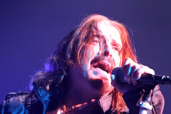 Dream Theater live, James LaBrie Royalty Free Stock Images