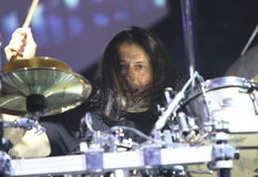 Dream Theater live, Mike Mangini Royalty Free Stock Photography