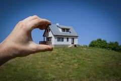 Dream to have a house. Stock Photo