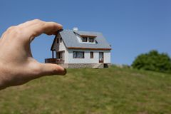 Dream to have a house. Stock Images
