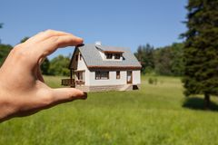 Dream to have a house. Royalty Free Stock Photography