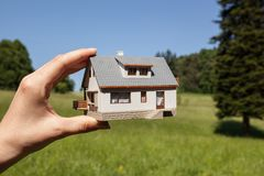 Dream to have a house. Stock Photos