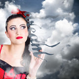 Dream to make believe. Growth of imagination Stock Images