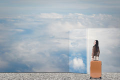 Dream to travel Stock Photos