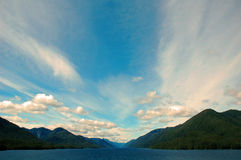 Dream Trip. North bound in the Inside Passage to Alaska Stock Image