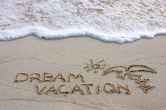 Dream vacation Royalty Free Stock Photos
