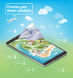 Dream vacations infographic Stock Images