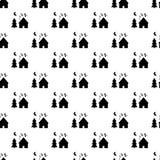 Dream village pattern seamless Stock Photo