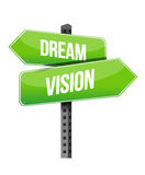 Dream and vision sign Royalty Free Stock Photos