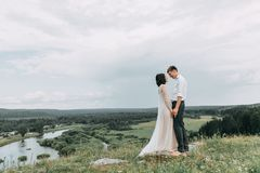 Dream wedding in mountains royalty free stock image