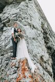 Dream wedding in mountains Stock Image