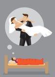 Dream Wedding Vector Cartoon Illustration Royalty Free Stock Images