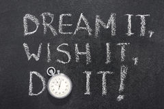 Dream wish do watch Stock Images