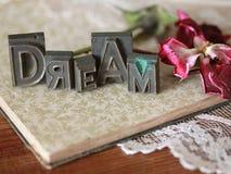 Dream Word Art stock photo