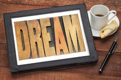 Dream word in wood type Stock Photo
