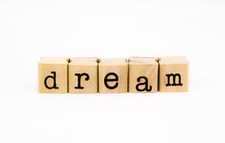 Dream wording isolate on white background Stock Photo