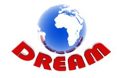 Dream and world with arrow Royalty Free Stock Images
