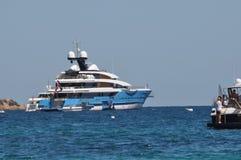 Maxi yacht in costa smeralda sardinia Royalty Free Stock Photos