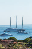 Maxi yacht in costa smeralda sardinia Royalty Free Stock Photo