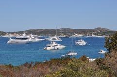 Maxi yacht in costa smeralda sardinia Stock Images