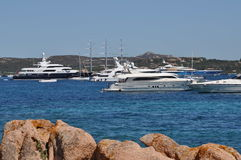 Maxi yacht in costa smeralda sardinia Stock Photography