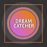 Dreamcatcher στο διάνυσμα αφηρημένο πρότυπο Στοκ Εικόνα