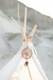 Dreamcatcher на белом шатре Стоковая Фотография RF