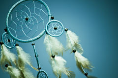 Dreamcatcher. A Native american dream catcher moved by wind Stock Photo