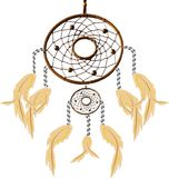 DreamCatcher. Illustration of an aboriginal  Dreamcatcher blowing in a gentle breeze Royalty Free Stock Photos