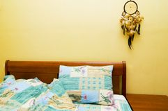 Dreamcatcher above the bed stock images