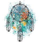 Dreamcatcher. Against a background of colorful splash Stock Image