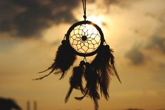 Dreamcatcher against sky