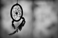 Dreamcatcher in bianco e nero fotografie stock libere da diritti