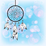 Dreamcatcher on blue Stock Photography