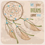 Dreamcatcher card Royalty Free Stock Photography