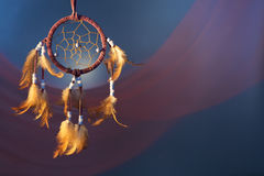 Dreamcatcher on a color background. Dreamcatcher on a color velvet background.concept dream Royalty Free Stock Image