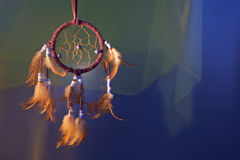 Dreamcatcher on a color background. Dreamcatcher on a color velvet background.concept dream stock image