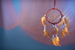 Dreamcatcher on a color background. Dreamcatcher on a color velvet background.concept dream Royalty Free Stock Images