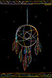 Dreamcatcher. Color sketch over white background Stock Images