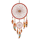 Dreamcatcher Colorful logo. Dreamcatcher  on white background. Native american indian dream catcher. Colorful logo vector illustration Royalty Free Stock Photo