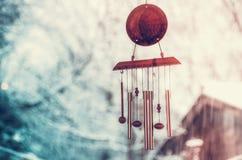 Dreamcatcher di zen con il fondo della neve del bokeh Fotografia Stock Libera da Diritti
