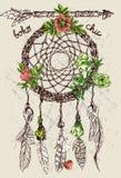Dreamcatcher dibujado mano del ejemplo Fotografía de archivo