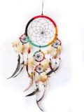 Dreamcatcher die in wit wordt geïsoleerde Stock Foto