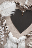 Dreamcatcher en forme de coeur Image libre de droits