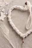 Dreamcatcher en forme de coeur Photo stock